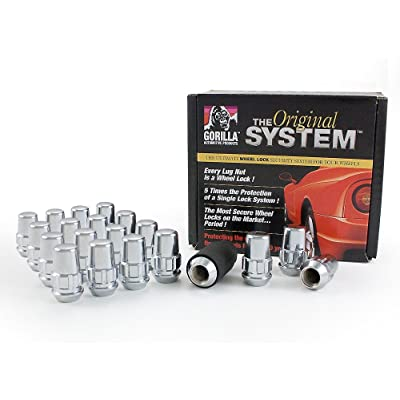 "Gorilla Automotive 71644N ""The System"" Acorn Wheel Locks (14mm x 1.50 Thread Size) - For 6 Lug Wheels: Automotive"