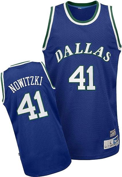 X-Sirstore Fans Supplies Vest Basketball Dallas No.41 Nowitzki Retro Uniforms Mens Manual Embroidered Jerseys Replica