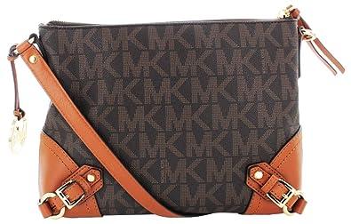 ce01406e64ef92 Michael Michael Kors Fallon Messenger Bag PVC Brown ...