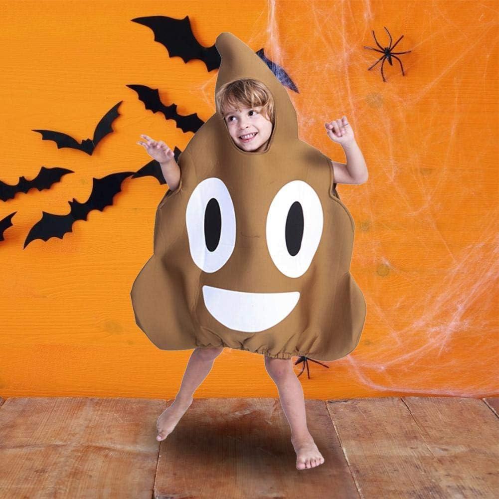 Disfraz De Poop Emoji para Niños, Disfraz De Halloween De Poop ...