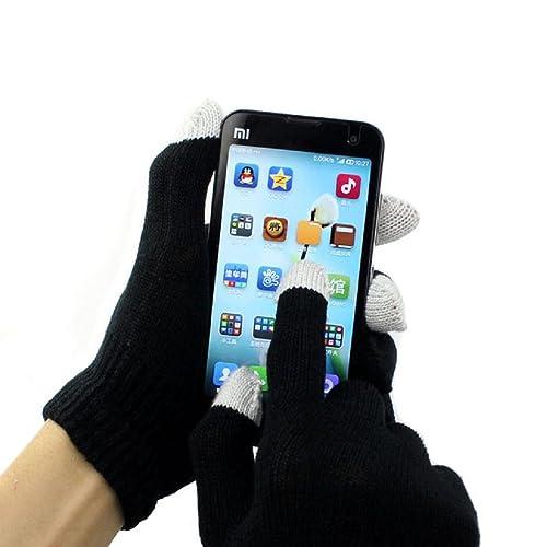 RETUROM Guantes unisex de la pantalla táctil del teléfono inteligente iPhone Los mensajes de texto d...