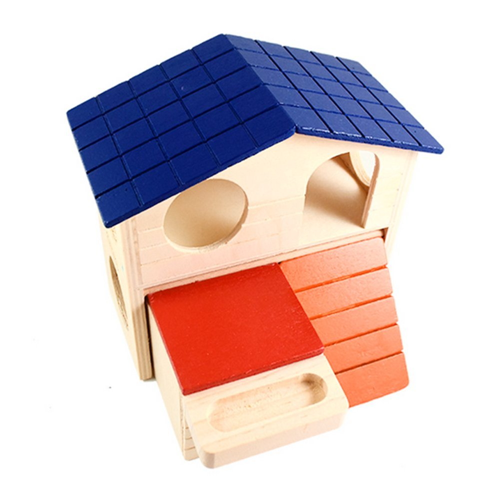 Da.Wa 1 PCS Wonderland Rodent House Natural Wood Colorful Toy Houses