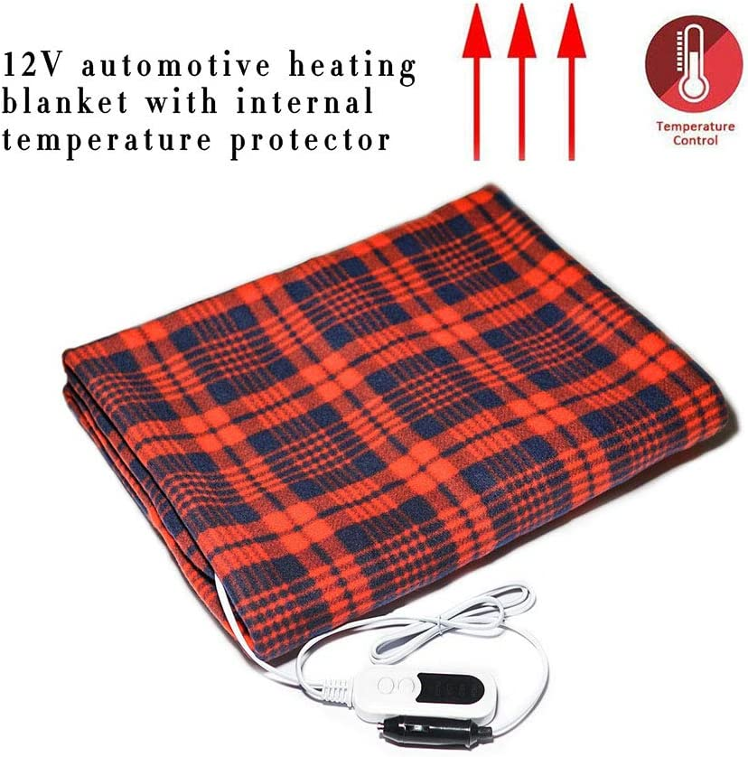 12V Soft Heating Blanket Car Electric Blanket Energy Saving Heated Blankets Car Interior Accessory for Travel