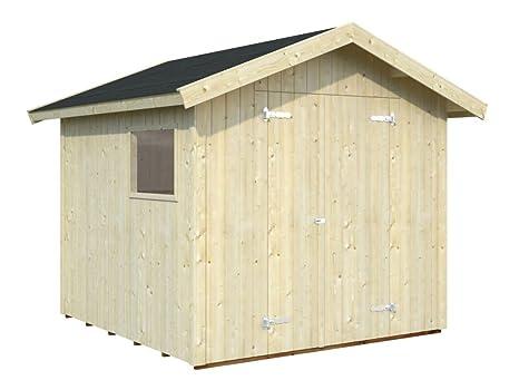 Casa de madera para Tilia t10 a con soporte suelo, natural – 16 mm listones