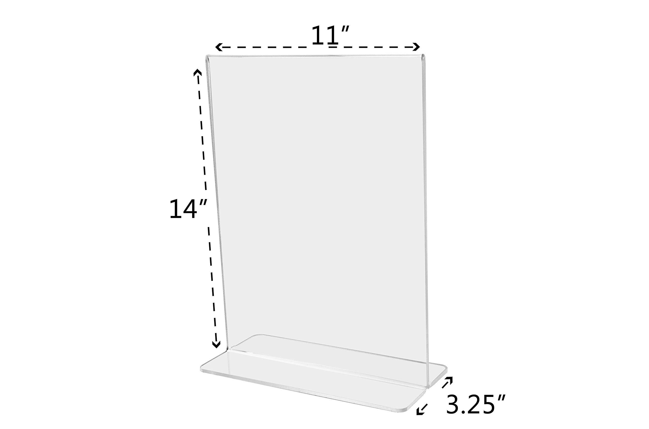 Marketing Holders Sign Holder Literture Flyer Display Stand Bottom Load Frames 11''w x 14''h Pack of 10 by Marketing Holders (Image #6)