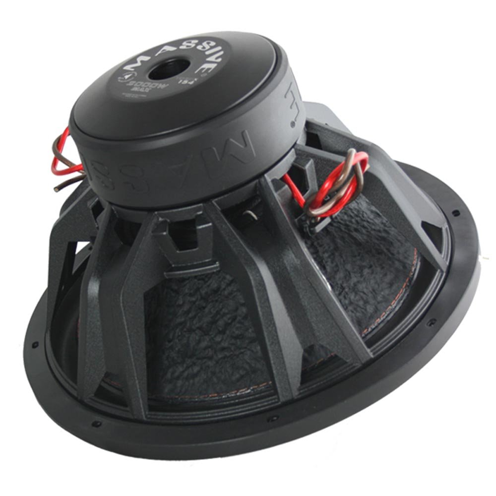 Car Subwoofer by Massive Audio TOROX154 - Bass and Sound Quality Woofer for Trucks, Cars, Jeeps - 15 Inch Car Audio 2,000 Watt Competition Subwoofer (Dual 4 Ohm - 3 Inch Voice Coil). Sold As Each by Massive Audio