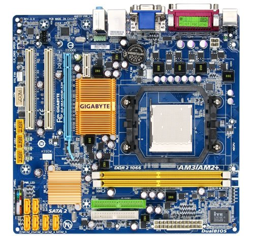 Gigabyte Socket AM2+/AMD 740G/DDR2/A&V&GbE/MATX Motherboard (Socket Am2 Matx Motherboard)