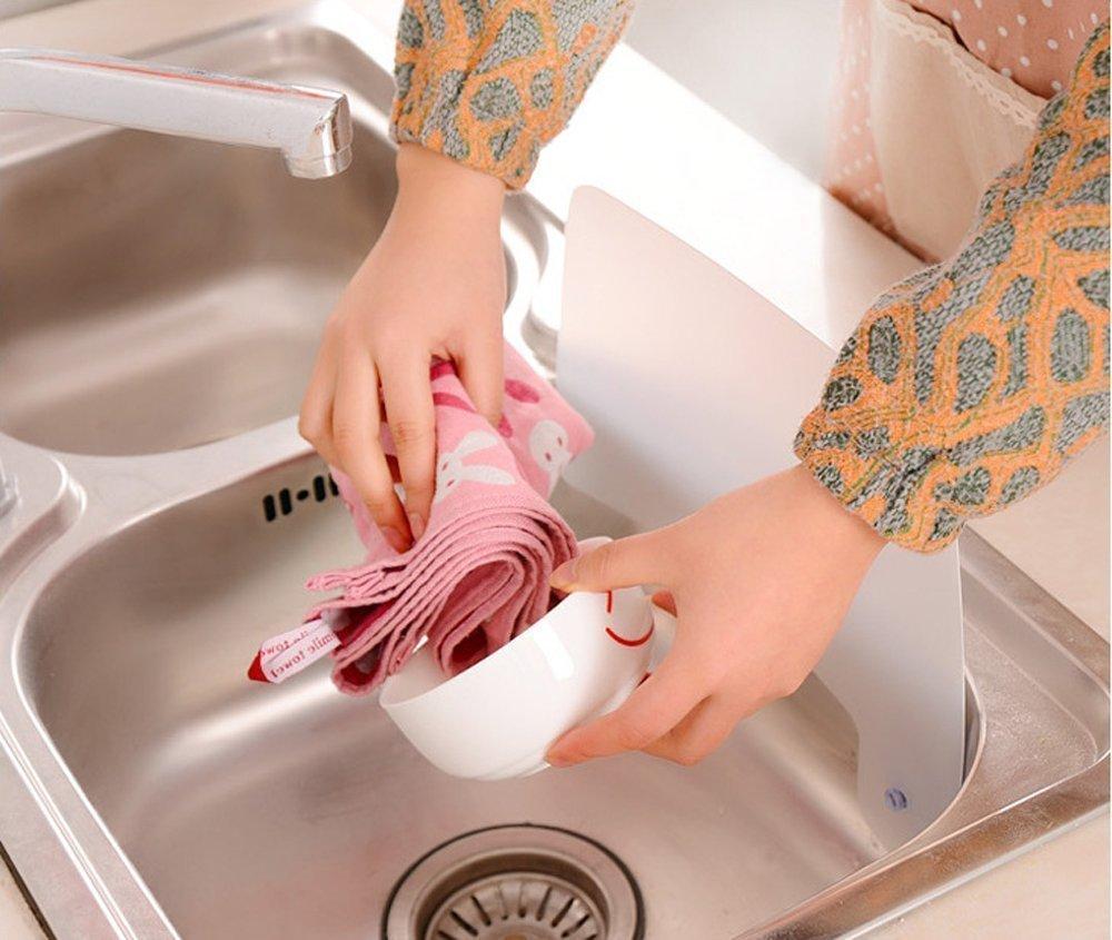 Uctop Store 2 pezzi per olio e acqua deflettore paraschizzi per lavello cucina
