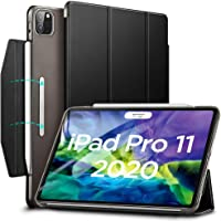 "ESR Yippee Trifold Smart Case for iPad Pro 11"" 2020, Auto Sleep/Wake [Supports Apple Pencil 2 Wireless Charging], Lightweight Stand Case with Clasp, Hard Back Cover for iPad Pro 11"", Black"