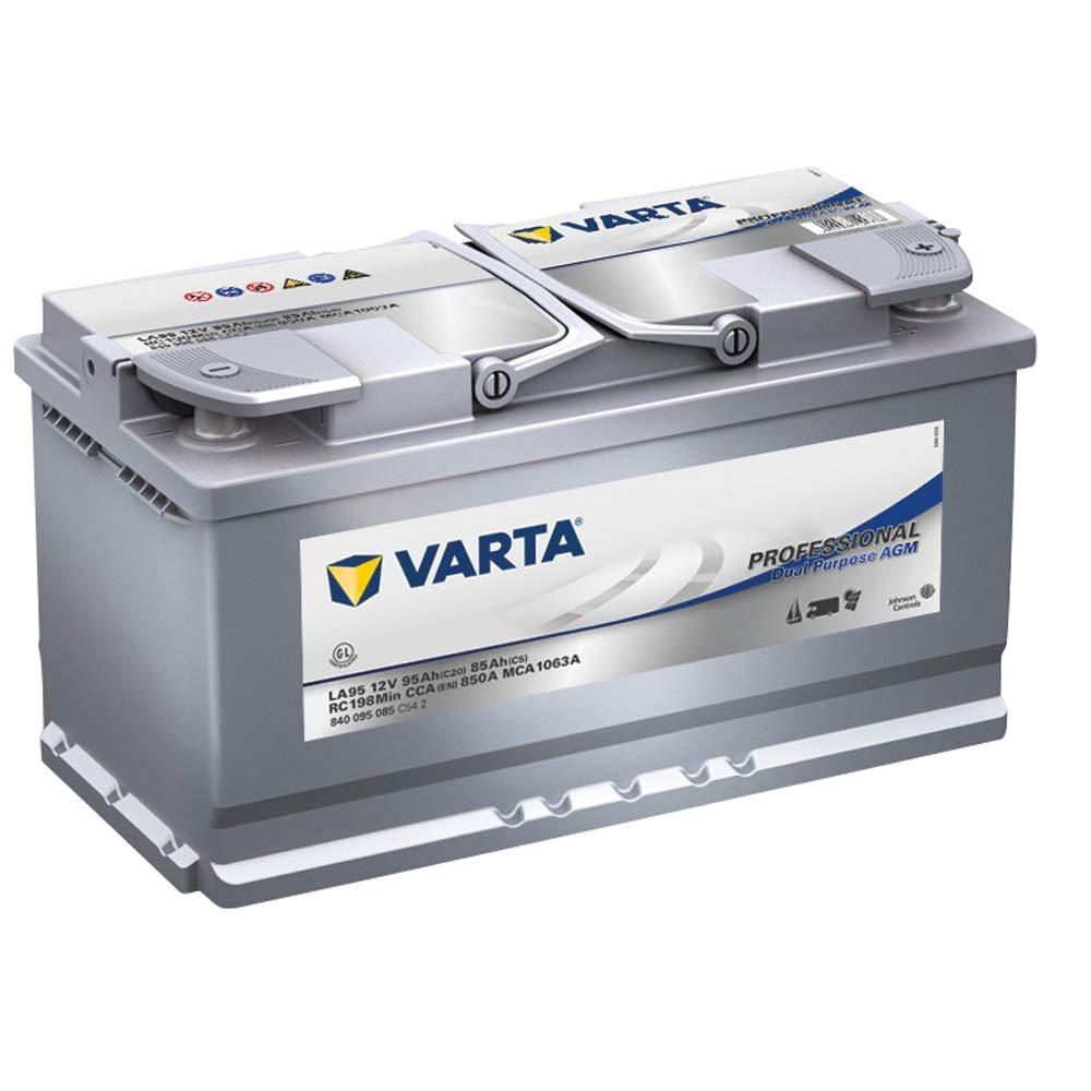 Varta LA95 Professional AGM Starter Dual Purpose Batterie 840095085C542 12V 95Ah Johnson Controls Autobatterie GmbH