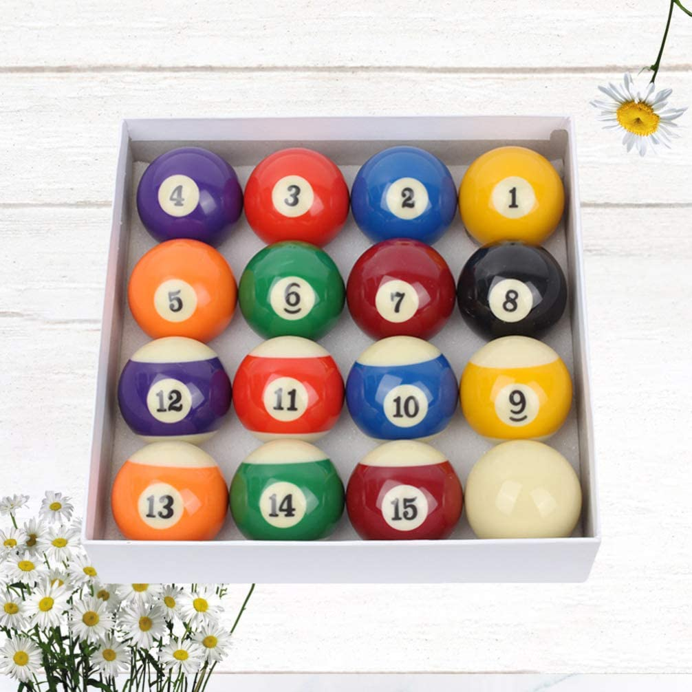 BESPORTBLE Pool Balls Set Snooker Balls Table Billiard Game Balls Complete Set Professional Billiard Pool Accessory for Home Club Playing Supplies 48mm 16pcs