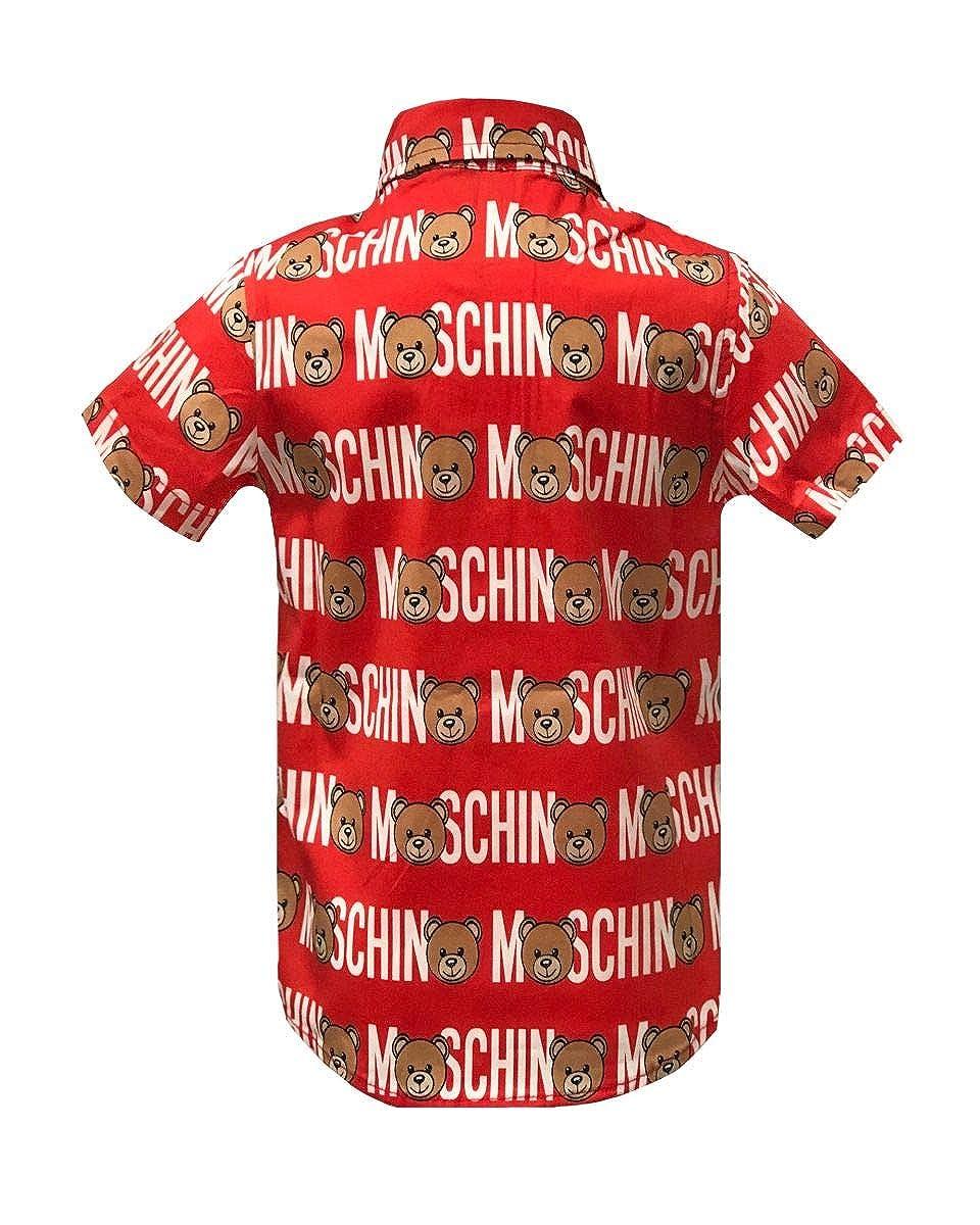 promo code cf182 e44d3 Moschino Camicia da Bimbo LOGATA: Amazon.it: Abbigliamento