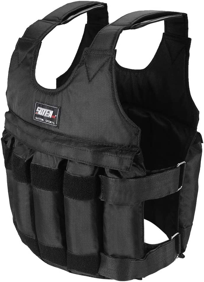 TANGNADE Weighted Vest,110LB//50KG Adjustable Weight Workout Exercise Strength Training Equipment Running Pull-Ups Weight Lifting Fitness