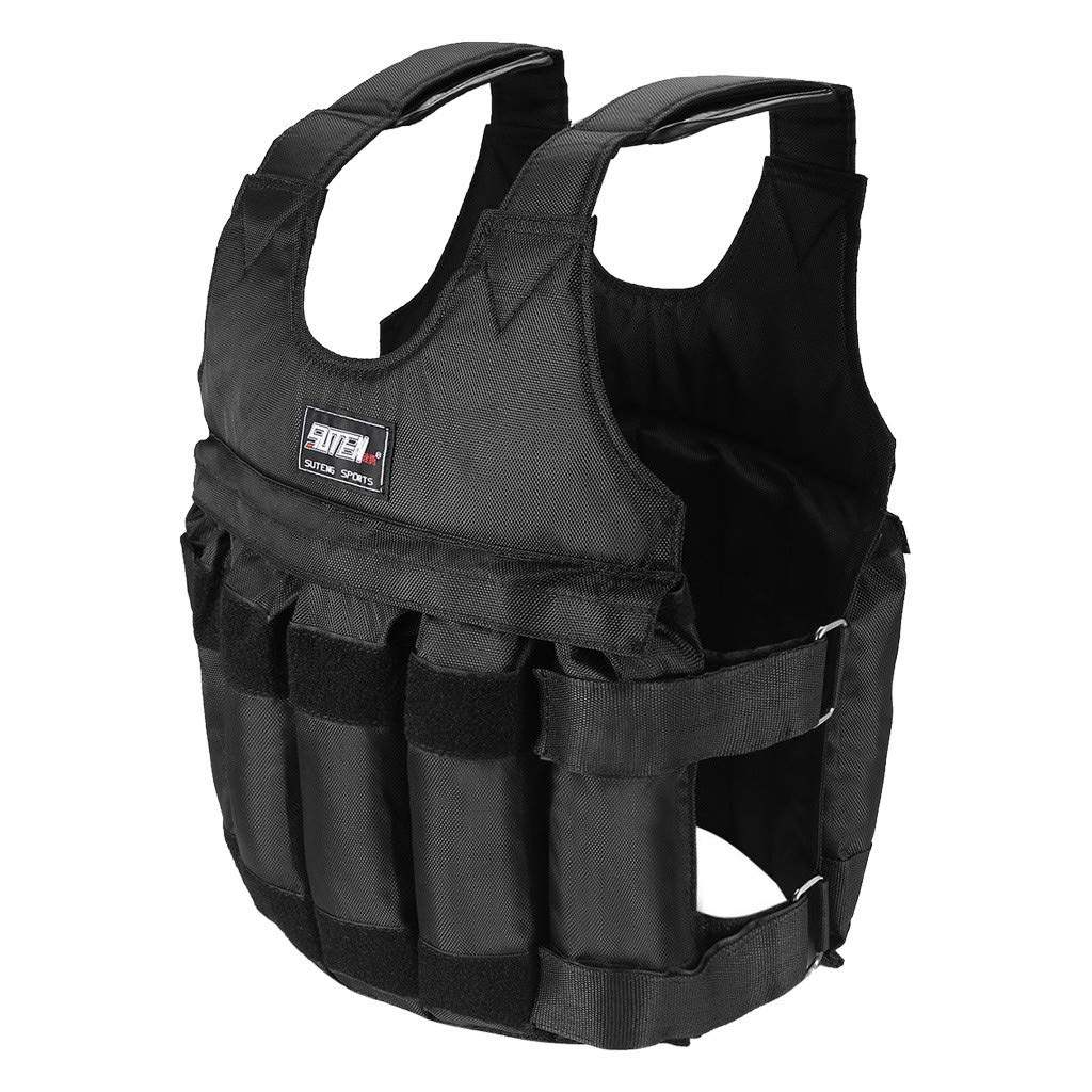 kkkki Workout Weighted Vest Adjustable Weight 110LB Exercise Training Fitness USA