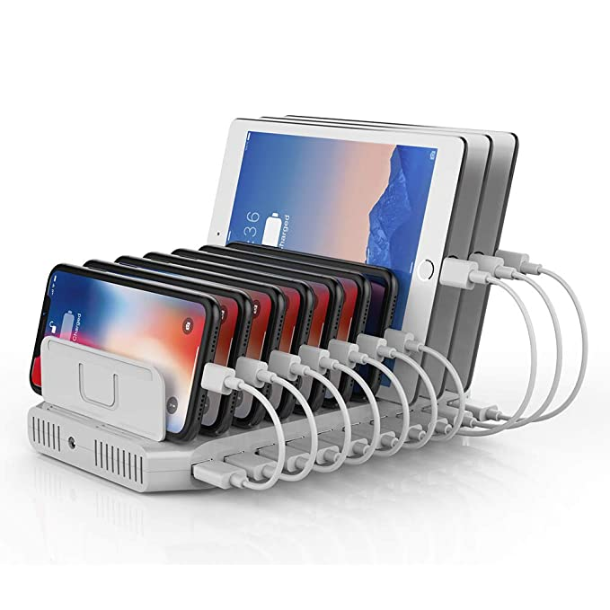 d029dc5a9700cb Unitek Multi Charging Station, 10-Port USB Charger for Multiple Device with  SmartIC Tech