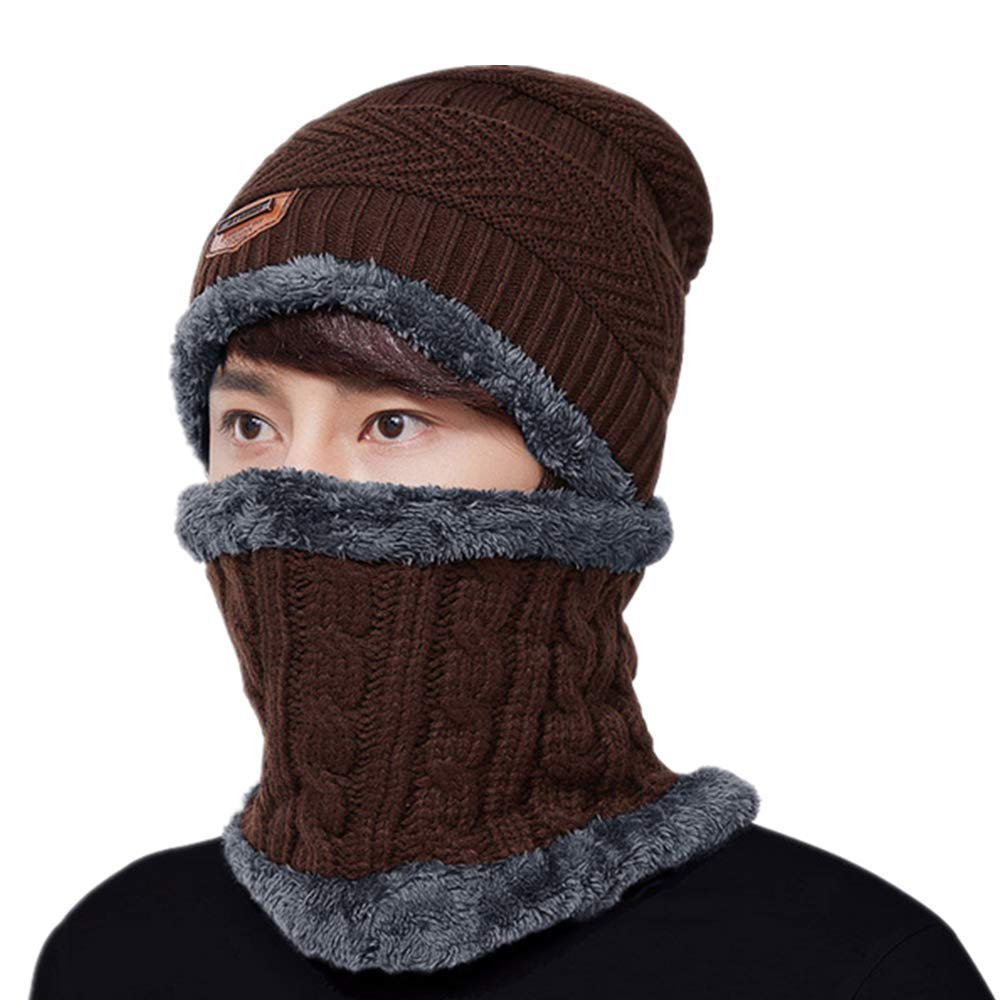 Men Women Balaclava Outdoor Sports Windproof Mask,Winter Ski Mask Hunting Hat w/Neck Warmer Wrap for Cold Weather Area (coffee)