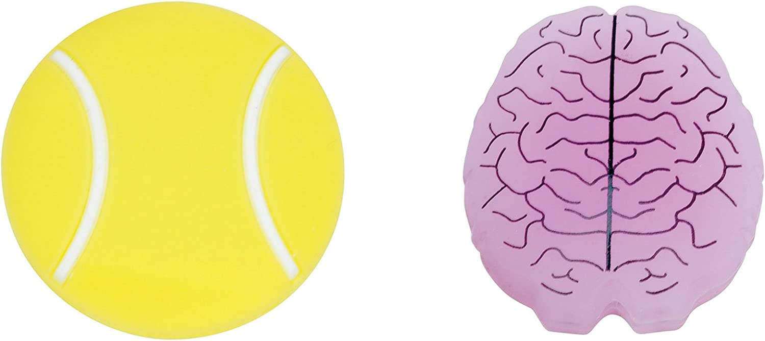 Gamma Sports String Things Vibration Dampeners(2-Pack) - Tennis Ball/Brain : Sports & Outdoors