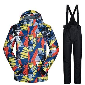 WAVENI M-XXXL Chaqueta de esquí y pantalón de Snow para ...