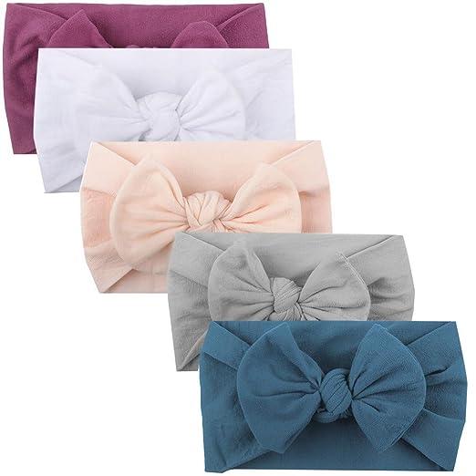 Girls Baby Toddler Turban Solid Headband Hair Band Ball Accessories Headwear Girls' Accessories