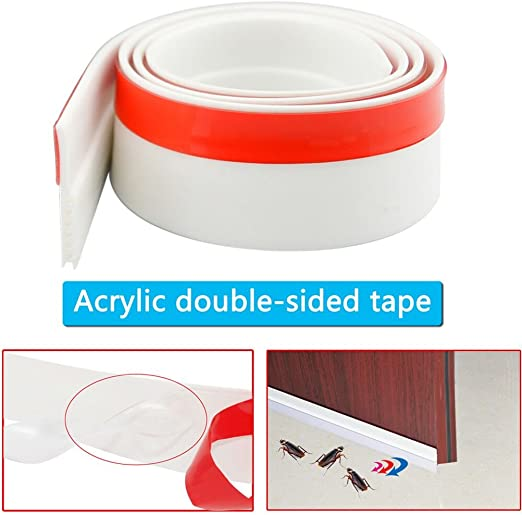 3M Door Bottom Self Adhesive Weather Stripping Silicone Rubber Seal Sweep Strip