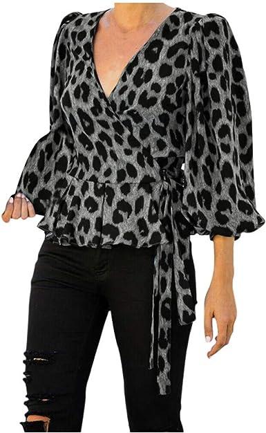 Camisa Mujer Manga Larga, RISTHY Blusa Encaje Tops de