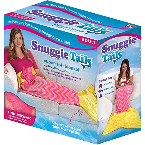 Snuggie Tails Mermaid Blanket For Adults (Pink)