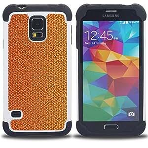 For Samsung Galaxy S5 I9600 G9009 G9008V - cork dry cracked golden brown Dual Layer caso de Shell HUELGA Impacto pata de cabra con im??genes gr??ficas Steam - Funny Shop -