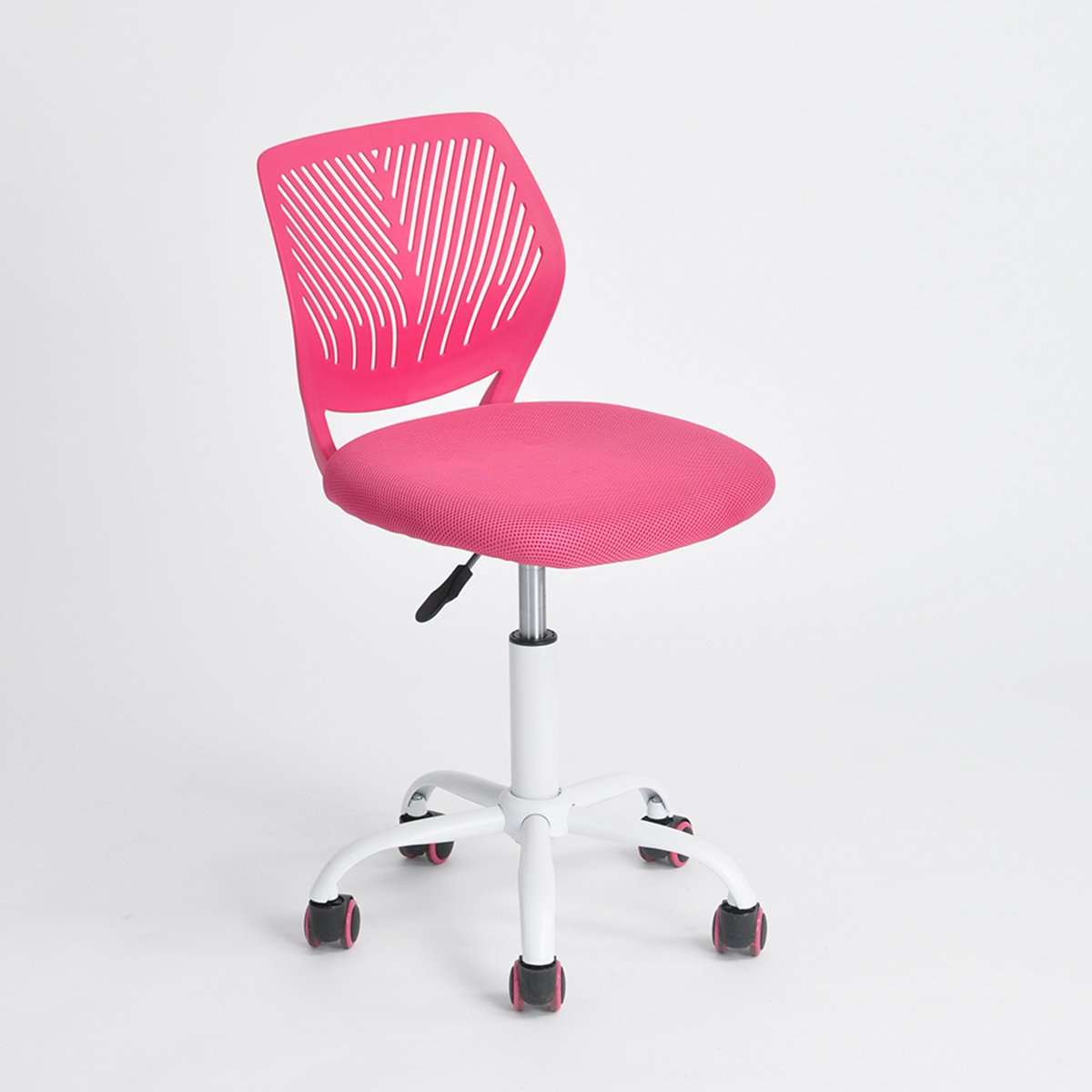Pink Office Task Adjustable Desk Chair Mid Back Home Children Study Chair by eHomeProducts