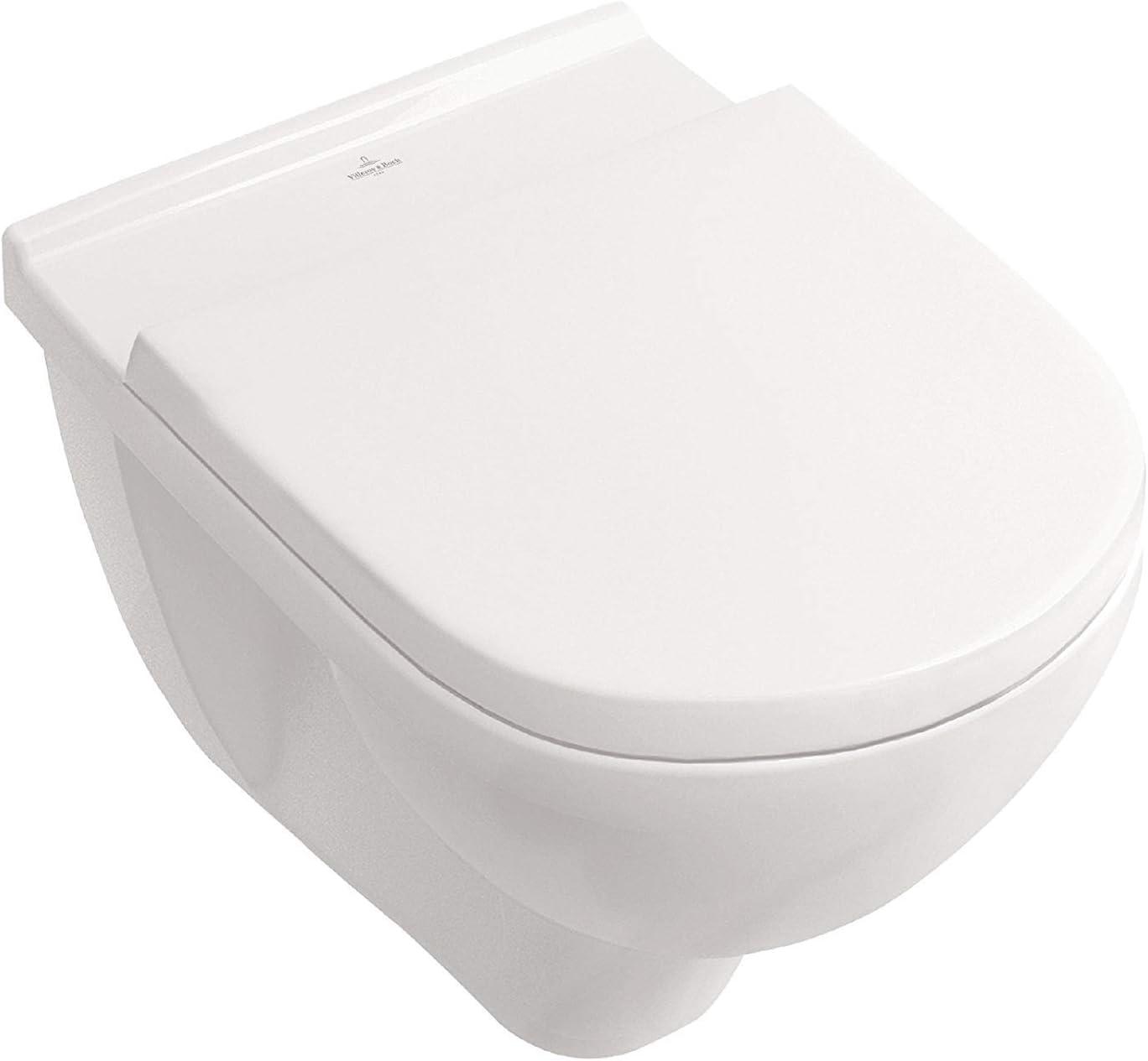 Villeroy /& Boch O Novo Wand WC Directflush ohne Spülrand CeramicPlus inkl Sitz