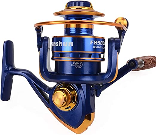 Carretes de Pesca Blue Spinning Fishing Reel para Agua Salada de ...