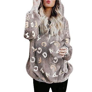Sweatshirt Femme Polaire Chaud Épaisse Manteau Pull Hiver Veste dw74Pw