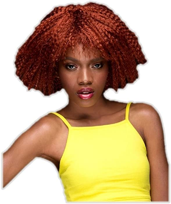 Amazon.com  Blush Zoey Henna Red Costume Wig Womens Fantasy Style Crimped  Hair  Clothing e6e4d718cf