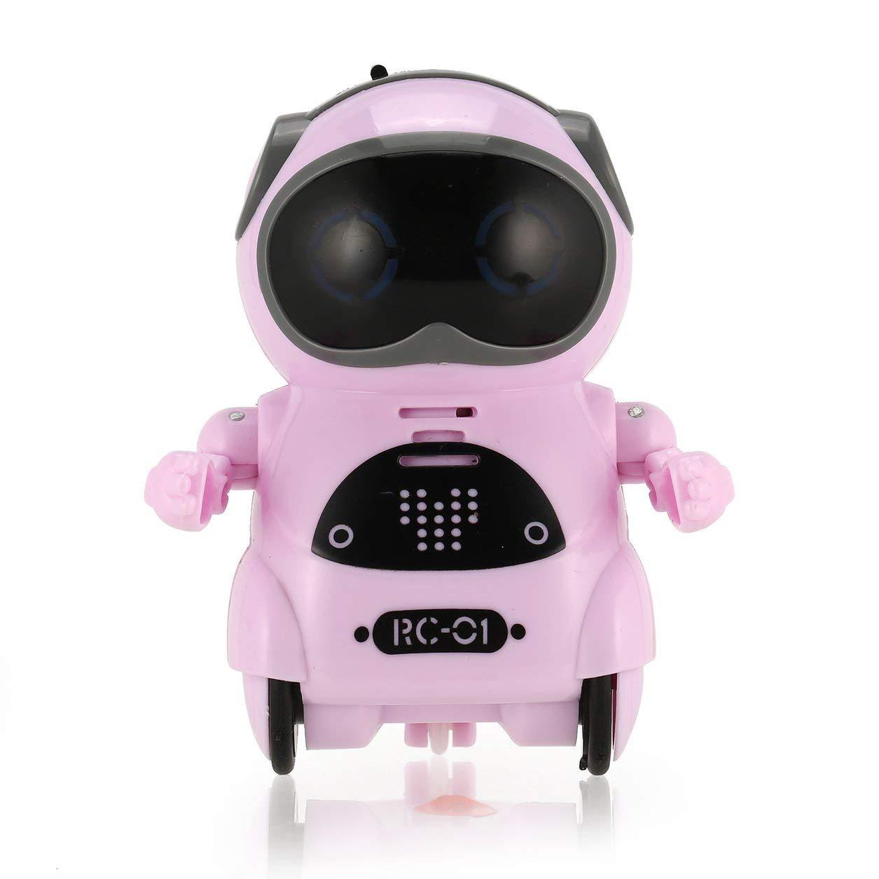Dailyinshop Intelligente Mini-Tasche Roboter-Weg-Musik-Tanz-Licht-Spracherkennung Type-Spielzeug