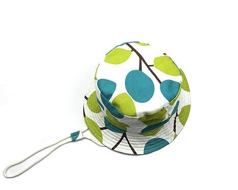 0081bcdd1963 Bébé Chapeau de soleil Pliable Bob en Coton Printemps Eté Bonnet de Bassin  Anti-UV