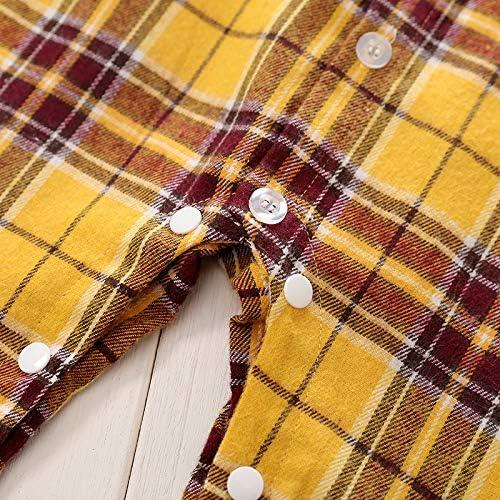 Baby Manica Lunga Quadri Plaid Pagliaccetto Tutina Neonato Camicie a Scacchi Cotone Jumpsuit Clothing Body Pigiama Tutine per Bambino 0-24 Mesi