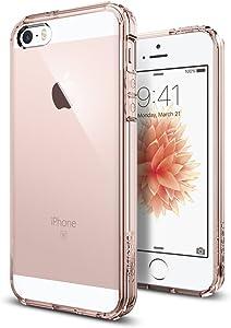 Spigen Ultra Hybrid Designed for Apple iPhone SE Case (2016) - Rose Crystal