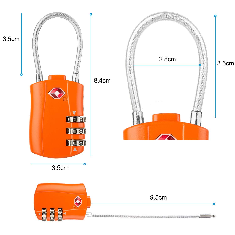 3-Digit Security Padlock 2 Packs Blue Diyife TSA Luggage Locks, Code Lock for Travel Suitcases Luggage Bag Case etc. Newest Version Combination Padlocks
