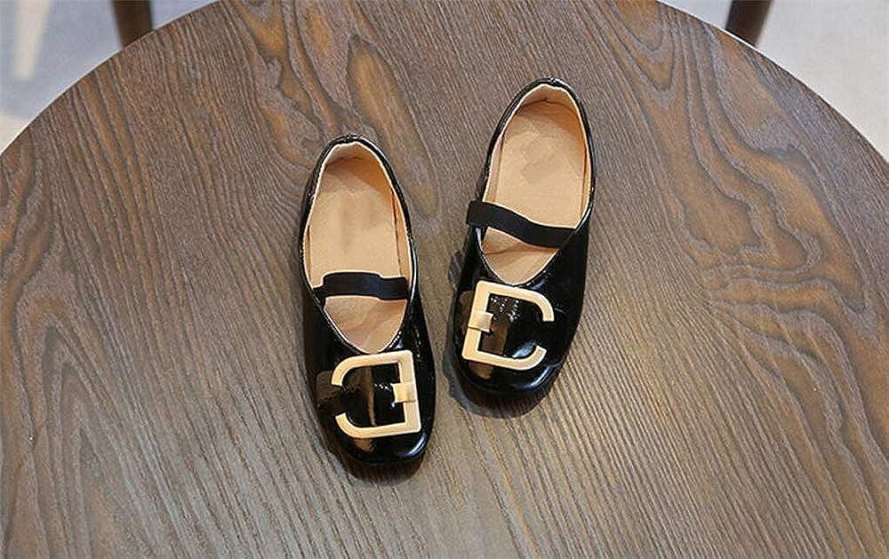 Fancyww Girls Ballet Ballerina Flats Metal Button Princess Shoes