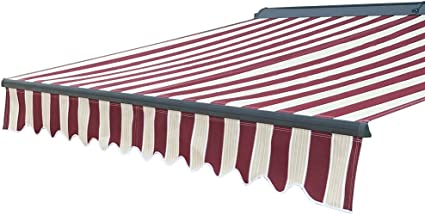 ALEKO Manual Retractable Patio Awning with Black Frame 13x10 Ft ...