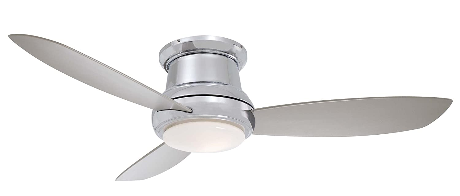 Minka aire f519 pn concept ii 52 flush mount ceiling fan with minka aire f519 pn concept ii 52 flush mount ceiling fan with light remote polished nickel ceiling hugger fans with light amazon aloadofball