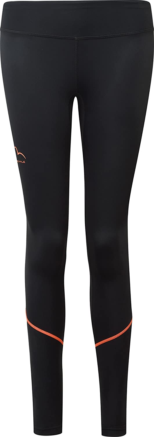 More Mile Compression Womens Long Running Tights Black