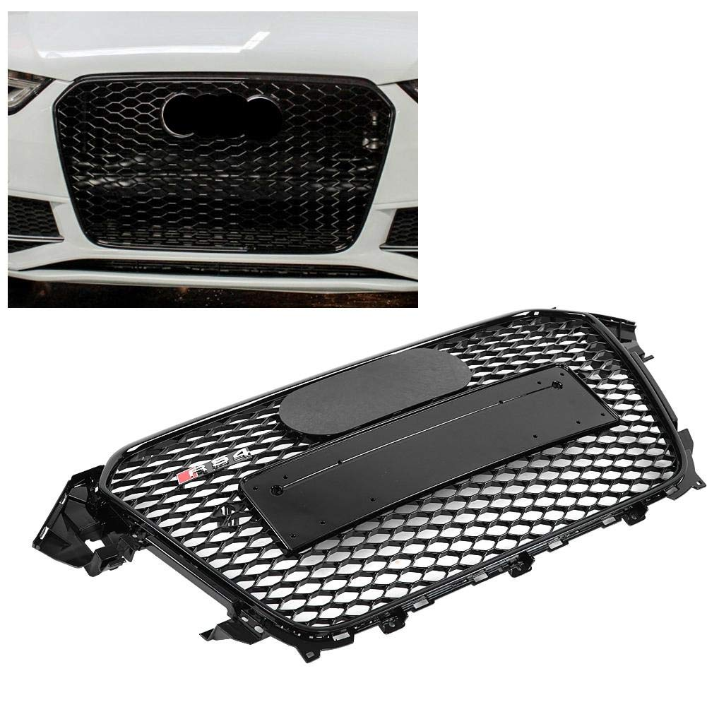 RS4 Style S4 B8.5 13-16 Griglia paraurti anteriore Suuonee per RS4 Style Front Sport Hex Mesh Honeycomb Hood Grill Grill nero lucido per A4