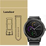 For Garmin Vivoactive 3 Band, Lamshaw Magnetic Milanese Loop Stainless Steel Magnet Closure Lock Straps for Garmin Vivomove HR / Garmin Vivoactive 3 Band (Black)