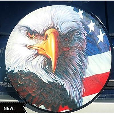Spare Tire Cover American Flag Eagle 29-30 inches: Garden & Outdoor
