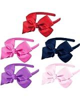 HipGirl Boutique Girls Baby Toddler Interchangable Hair Bow and Headband Set