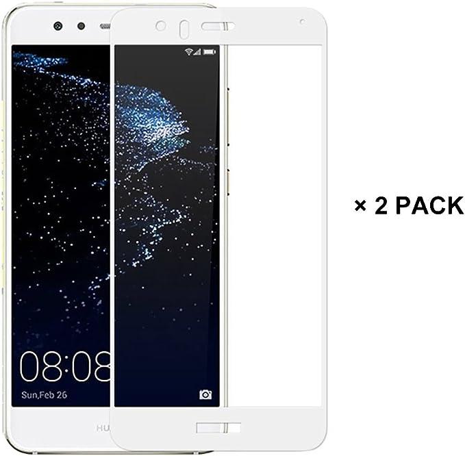 EUGO (2 Pack) Huawei P10 lite Protector de Pantalla, Full Coverage ...