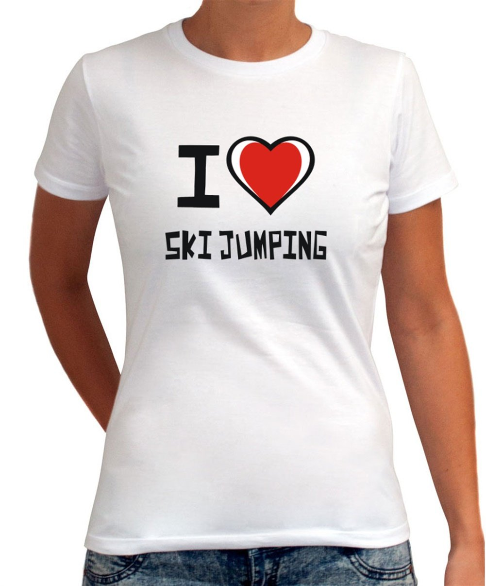 I love Ski Jumping Dame T-Shirt