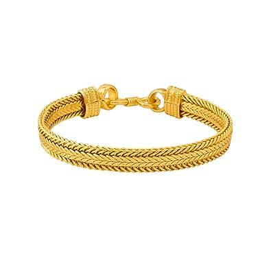 23111db32bdcee Voylla Strand Bracelet for Men (Golden)(8907617464848)  Amazon.in  Jewellery