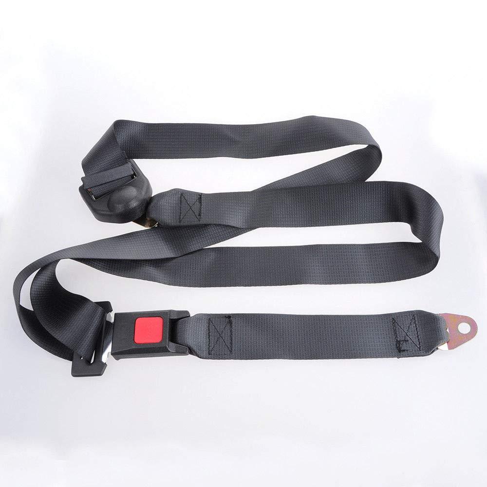 FidgetFidget Car Safety Seat Belt Adjustable 3 Point Lap Lock Buckle Set Black