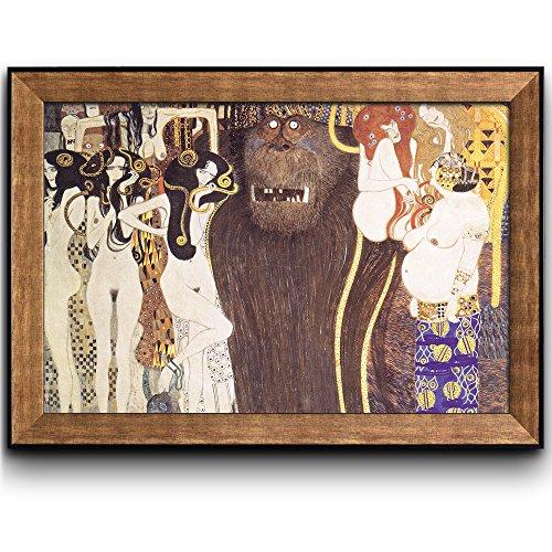 Beethoven Frieze The Hostile Forces by Gustav Klimt Framed Art